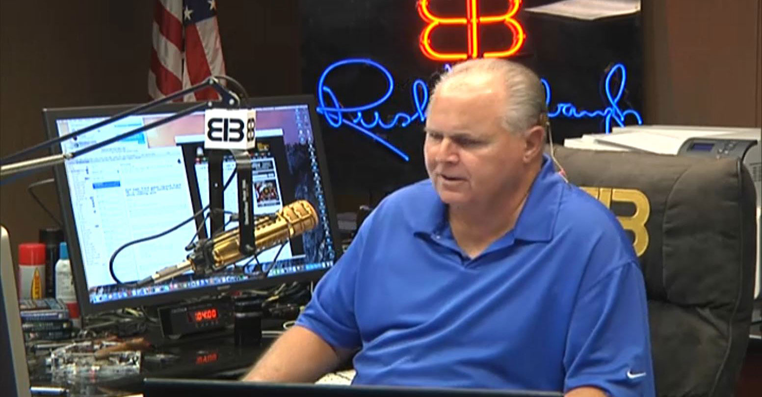 "Rush Limbaugh: Trump rally ""send her back"" chants are ""totally understandable"" because his supporters feel ""like their country is being stolen"""