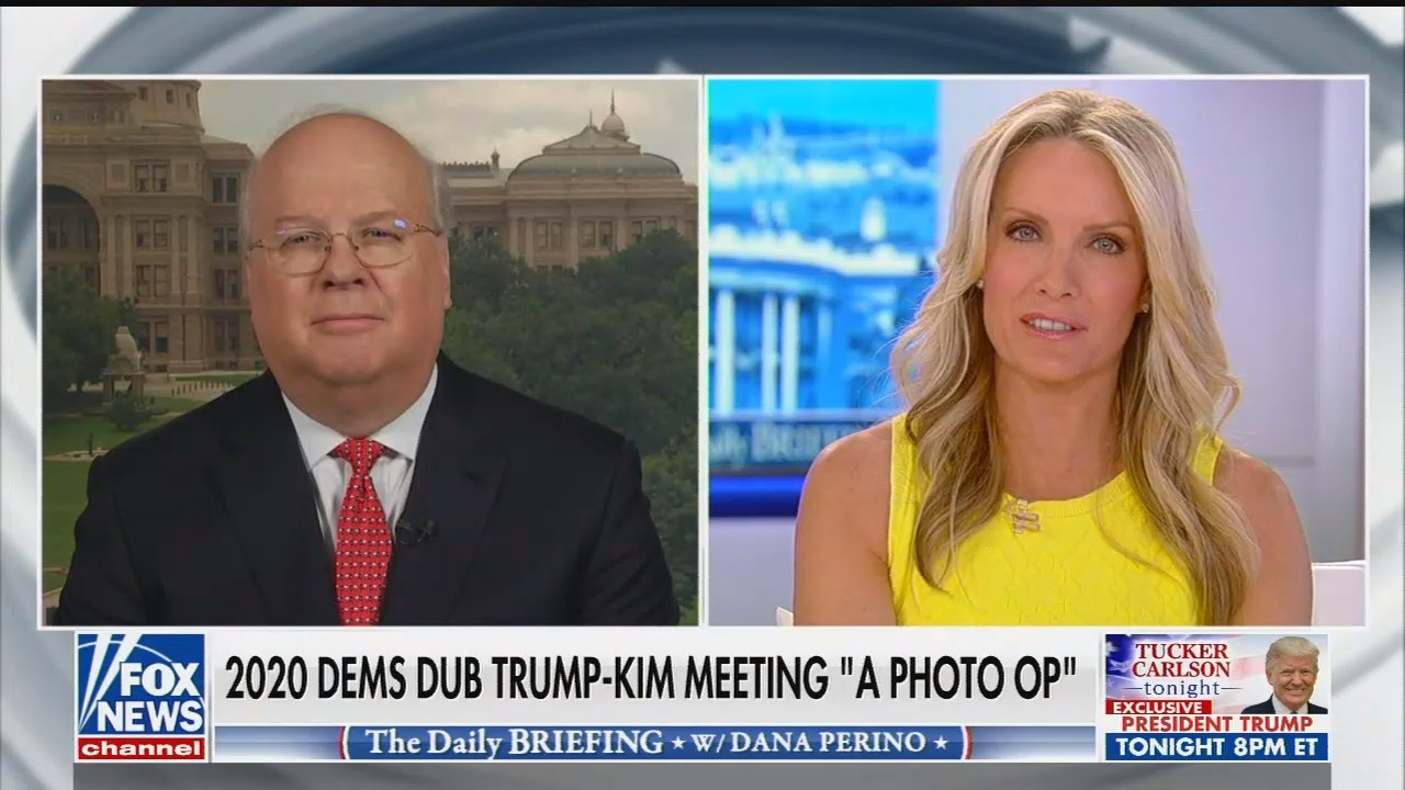 "Karl Rove defended Trump entering North Korea. In 2008, Rove warned against Obama participating in ""meaningless meetings that serve only as propaganda victories for our adversaries."""