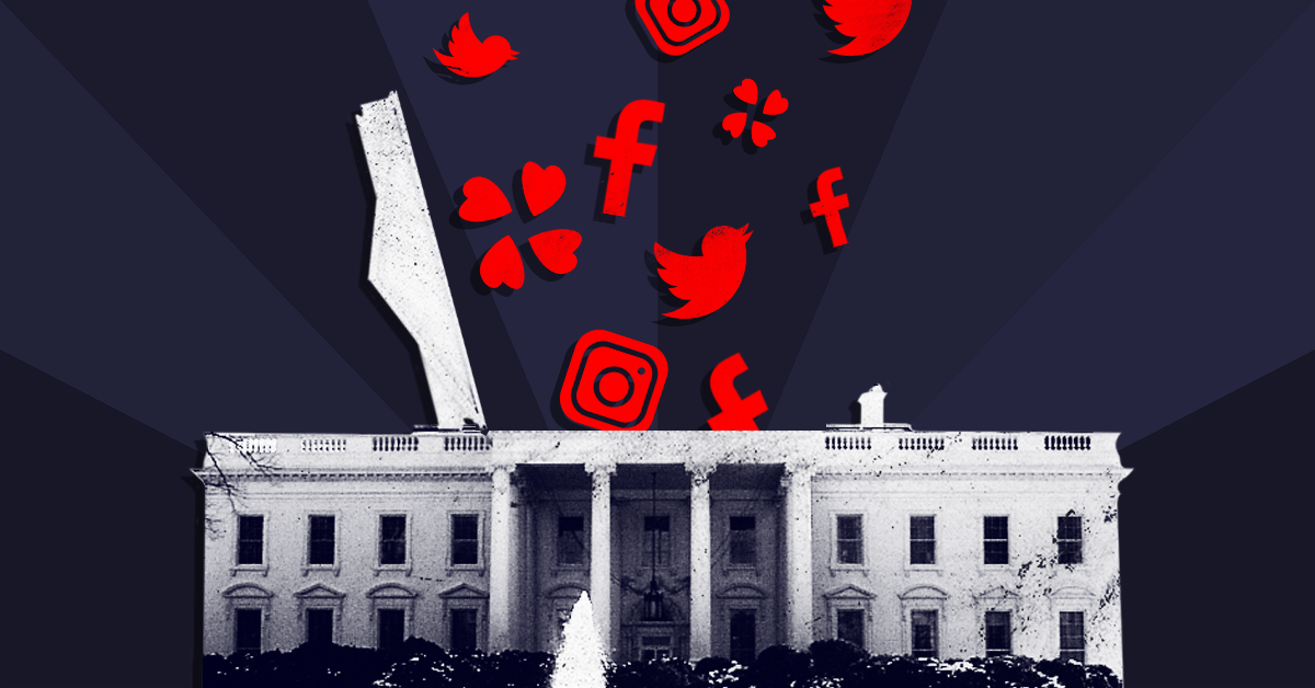 Here are the extremist figures going to the White House social media