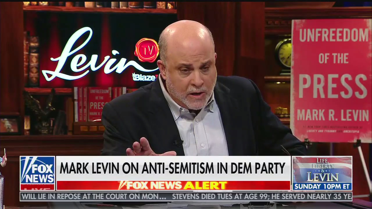 Mark Levin defends Trump's racist attacks on four Congresswomen:
