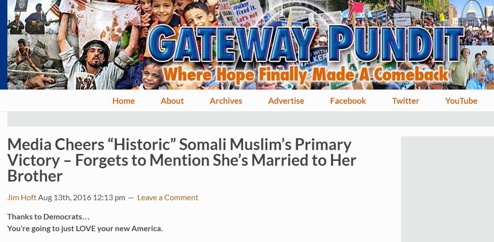 A baseless smear targeting Ilhan Omar made its way to Trump
