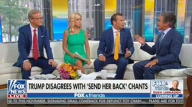 "Fox host tells Geraldo Rivera it's OK to tell him to ""go back"": ""I could say it to you"""