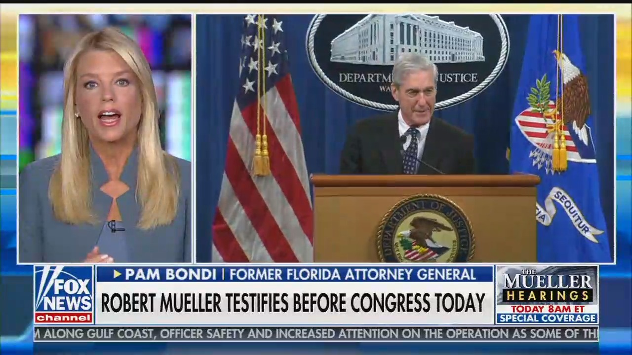 "Trump ally Pam Bondi lies on Fox & Friends that Mueller ""found no collusion, no obstruction"""