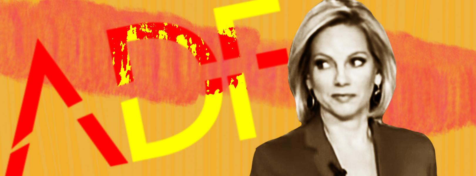 Shannon Bream in front of ADF logo
