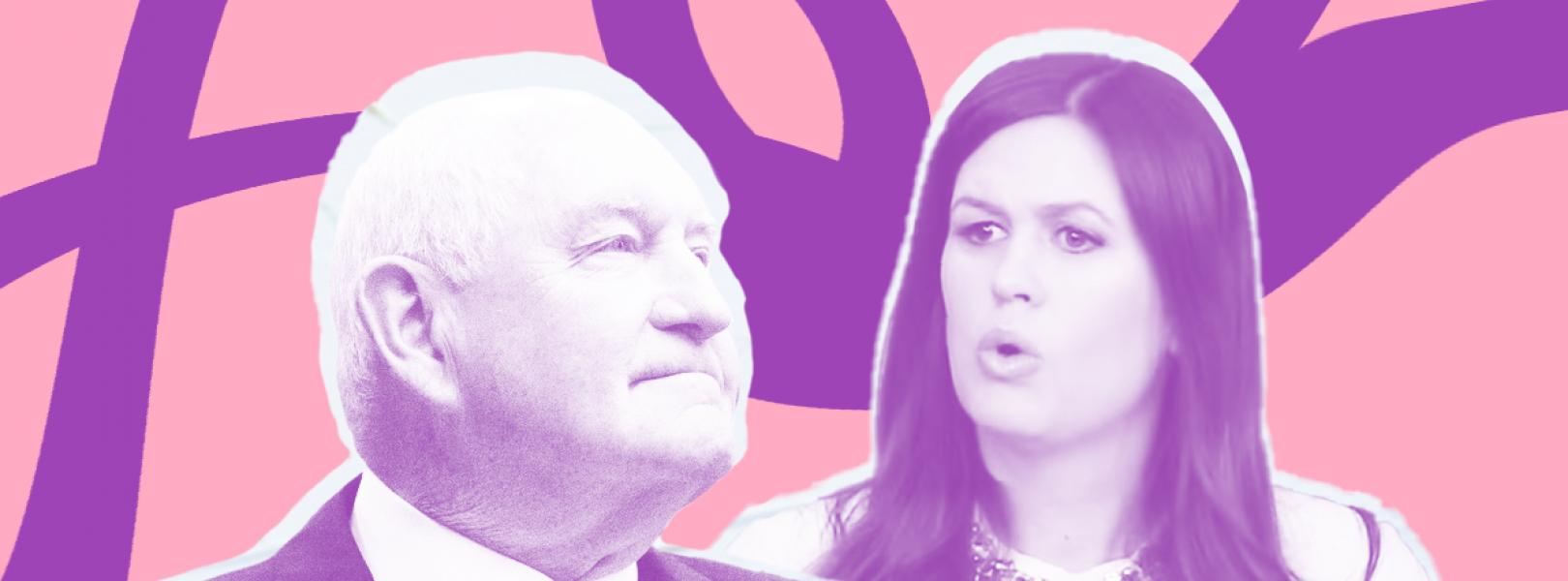 Sarah Sanders and Sonny Perdue