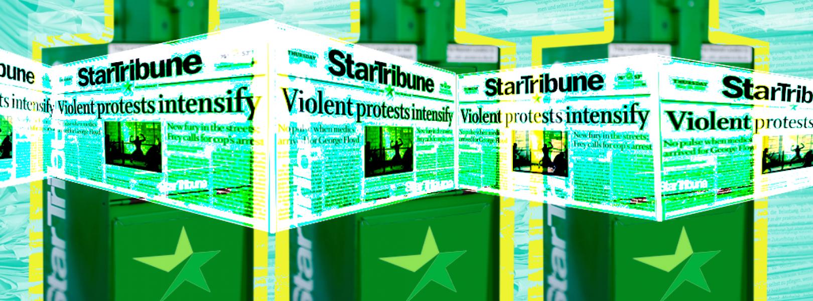 Star Tribune print headlines