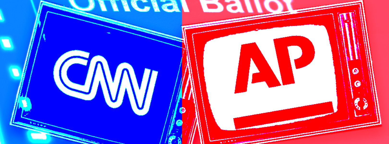 CNN and AP logos