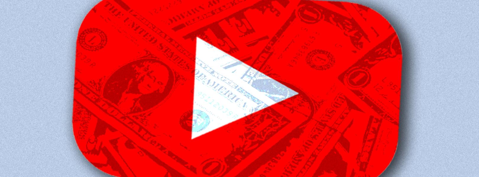 YouTube logo money