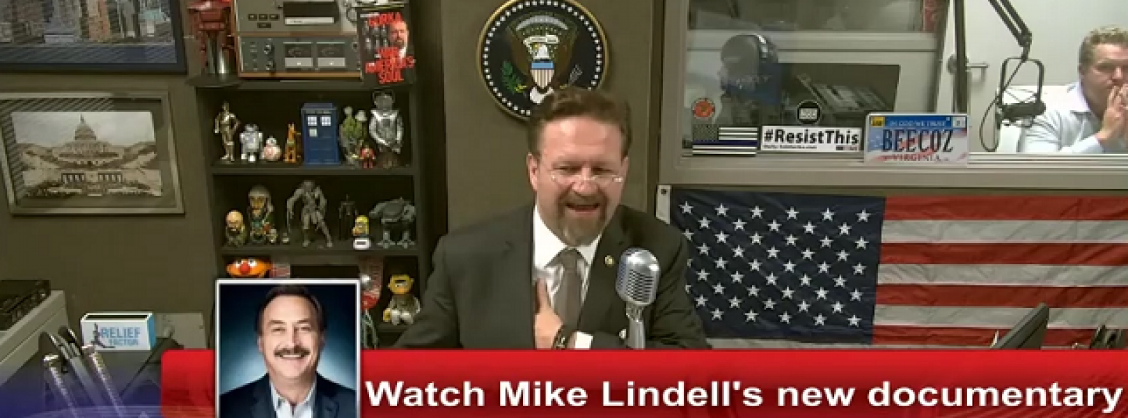 "On YouTube, Seb Gorka promotes Mike Lindell's disinformation ""documentary"" that has been banned by YouTube"