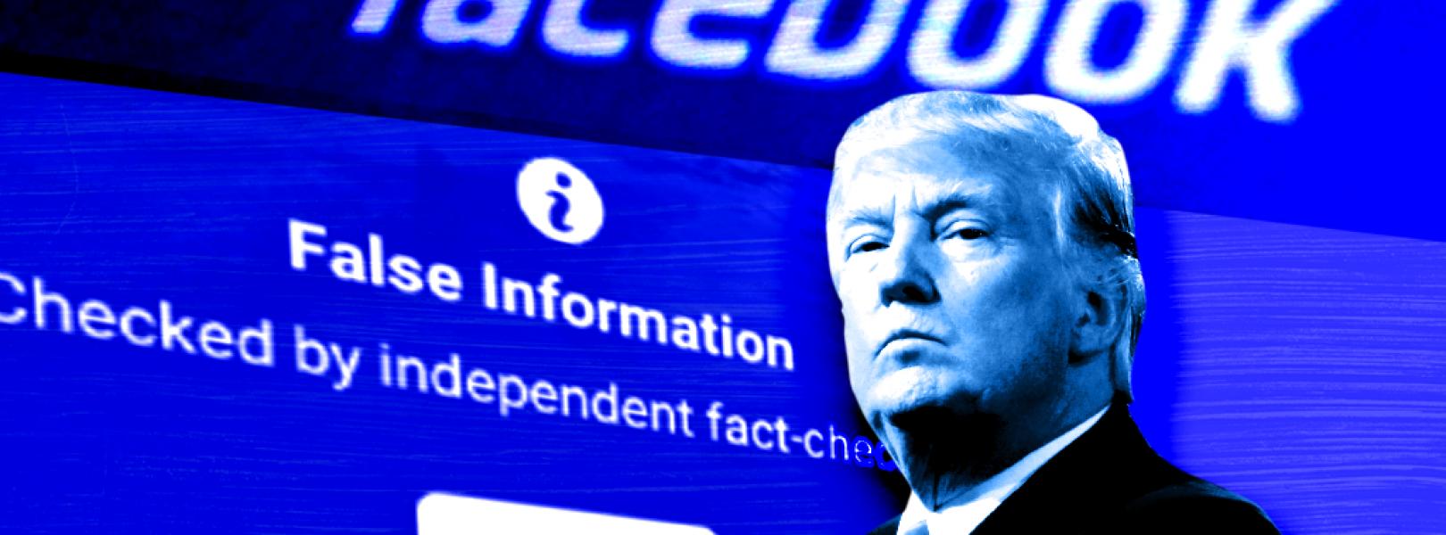 trump facebook labels