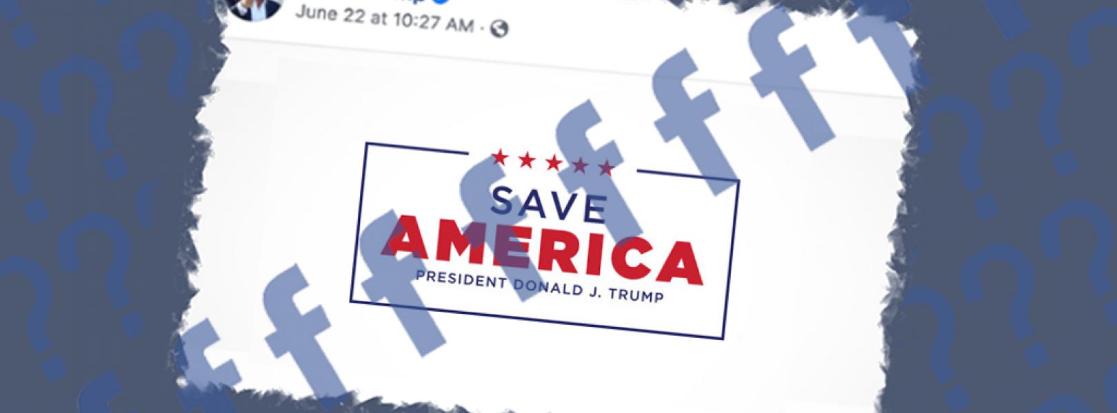 Facebook Trump fundraise