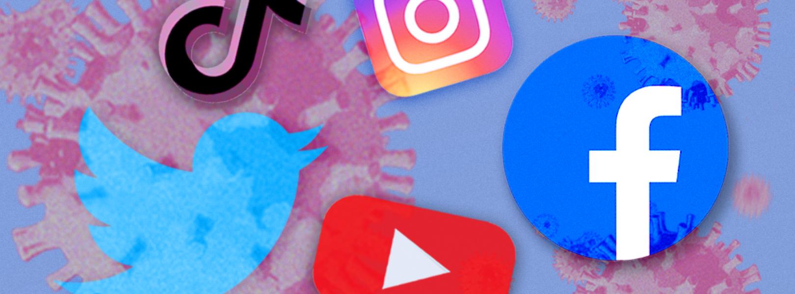 Coronavirus TikTok Instagram YouTube Facebook Instagram