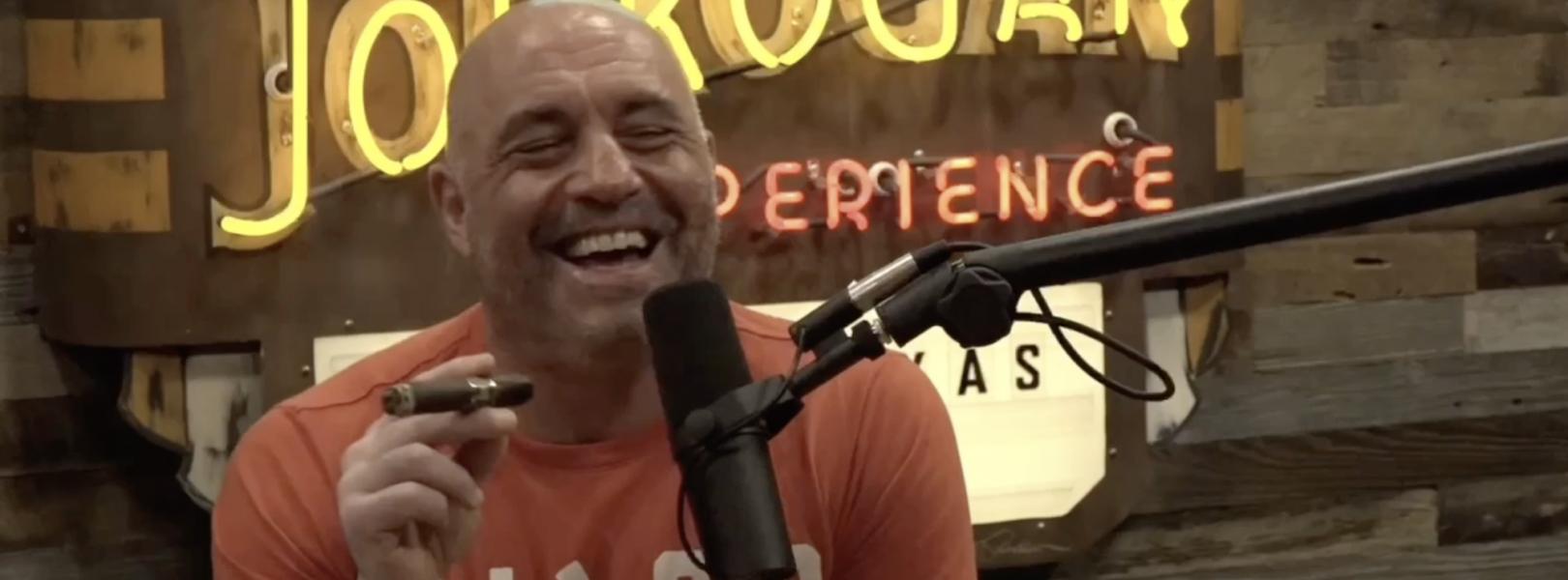 Joe Rogan in an orange shirt