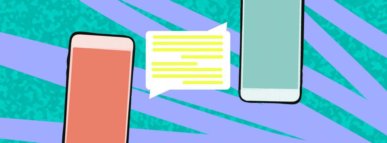 Cellular phone text messaging