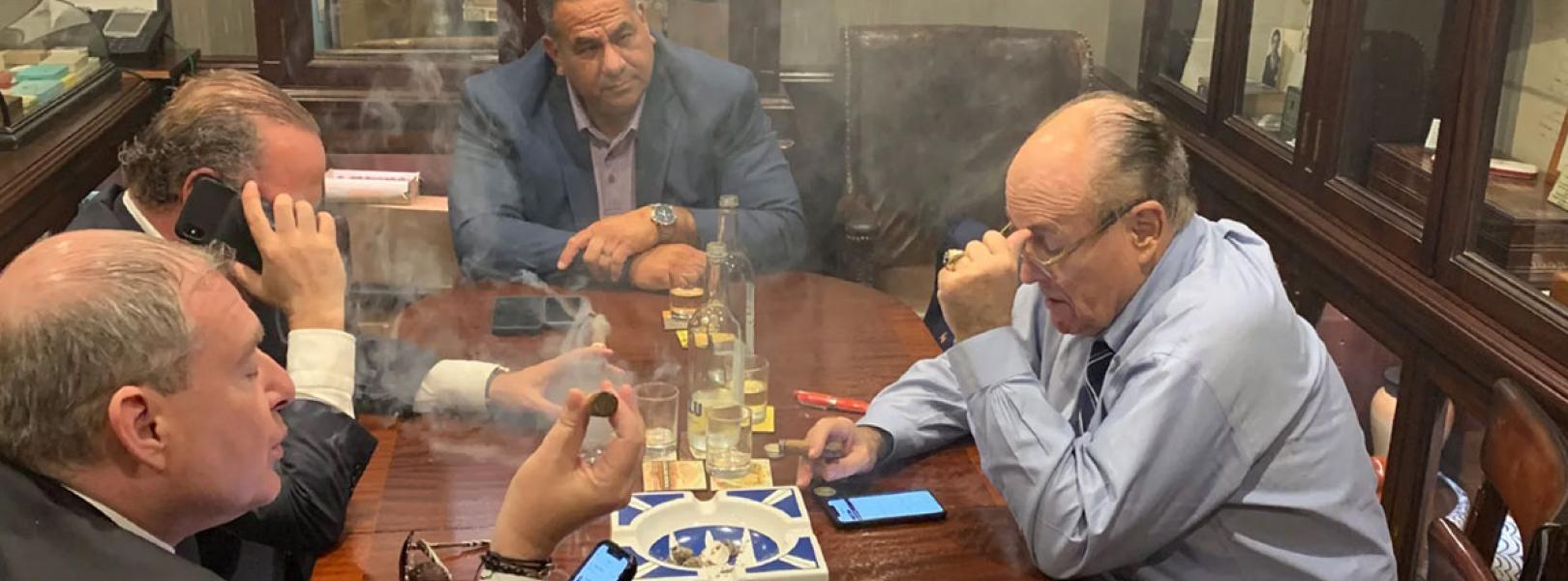 Rudy Giuliani with Parnas, Fruman