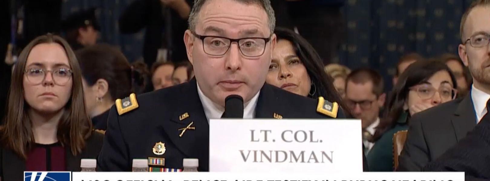 Lt Col Alexander Vindman