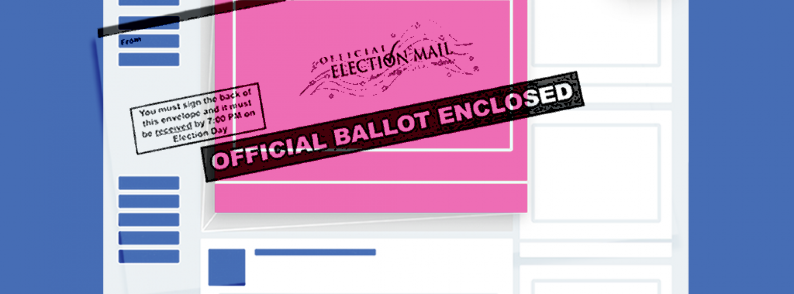 mail-in ballot and facebook