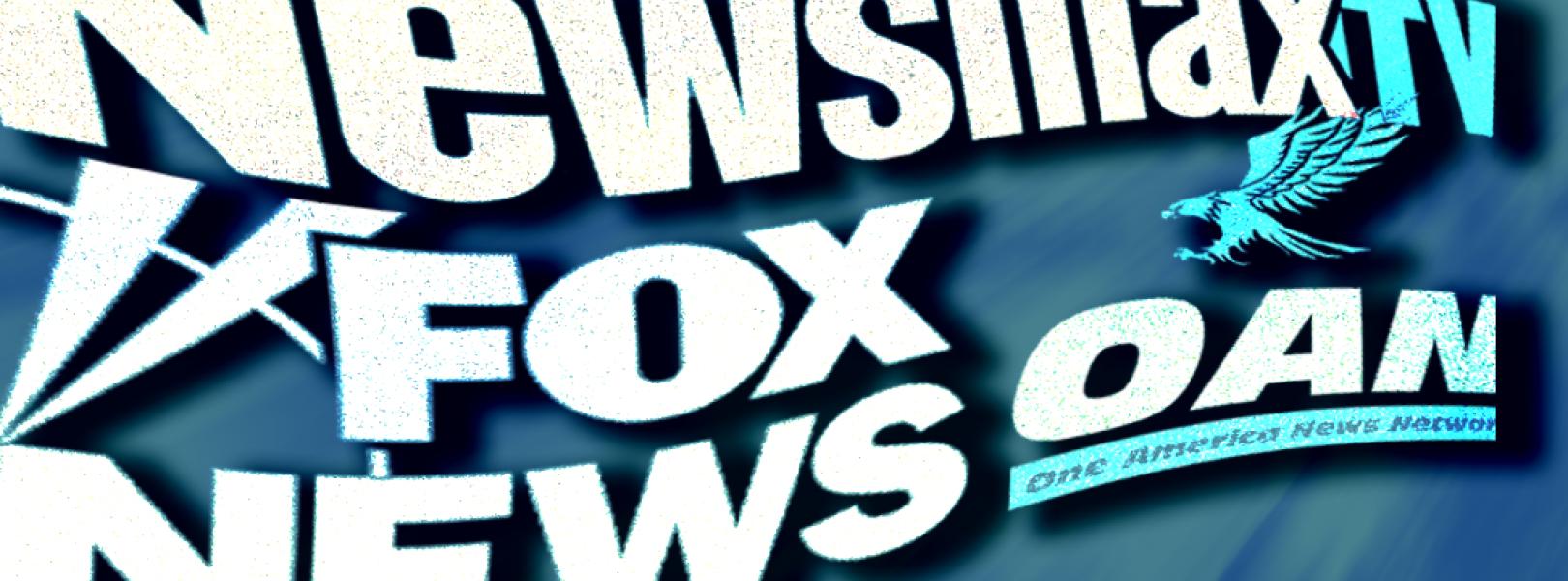 Newsmax TV, Fox News, and OAN logos