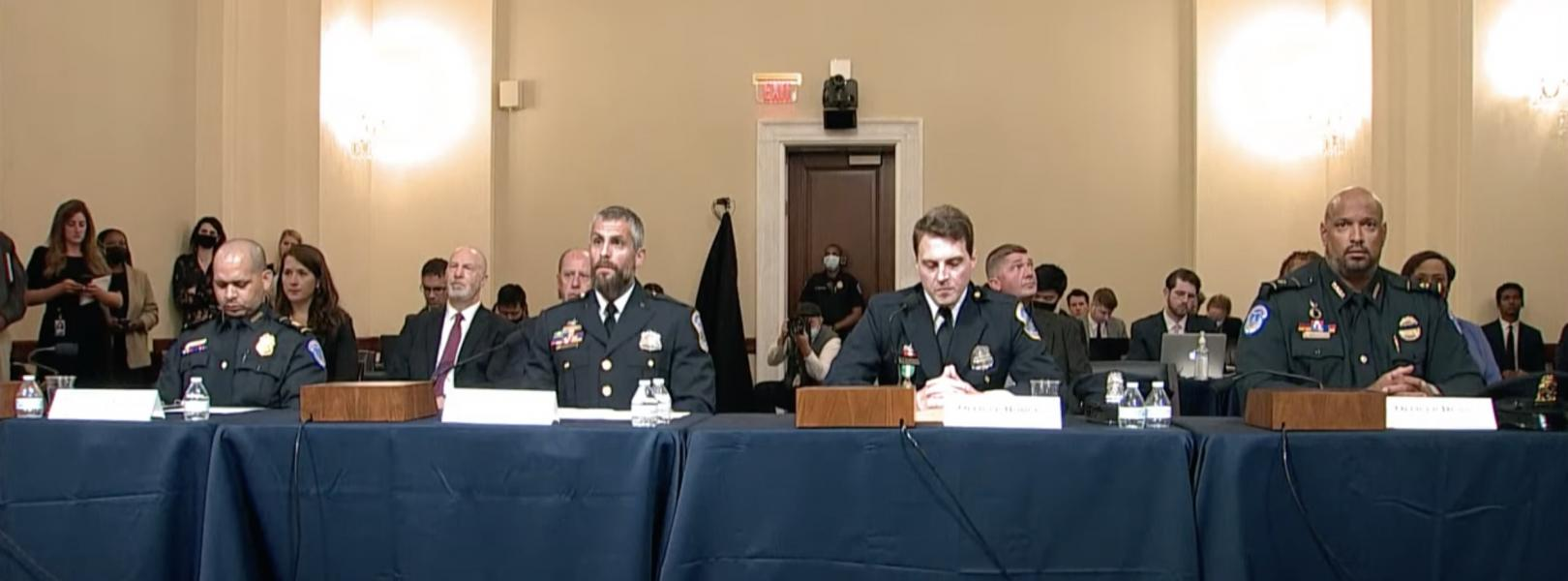 image — January 6 committee — officers testifying