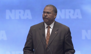 Ken Blackwell speaks at an NRA meeting