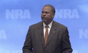 Ken Blackwell speaks at an NRA meeting
