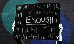 "Sign that says ""Enough"