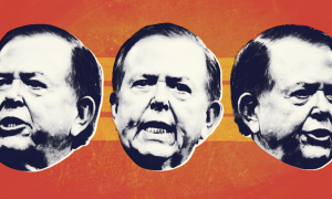 Lou Dobbs three faces