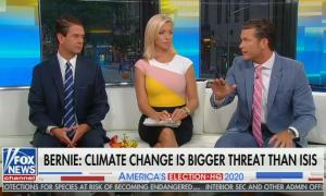 Pete Hegseth downplaying climate change on the Fox & Friends couch