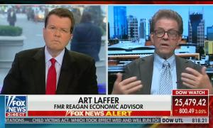 "On Fox, Art Laffer claims stimulus packages under Bush and Obama ""caused the Great Recession"""