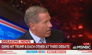MSNBC's Brian Williams mocks Democrats for talking about gun violence and green energy during Democratic debate