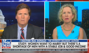 Tucker Carlson hosts Heather Mac Donald