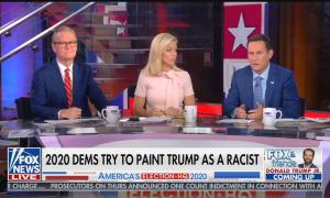 Fox & Friends hosts Steve Doocy, Ainsley Earhardt, and Brian Kilmeade