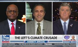 Herman Cain, Marc Moruno, and Sean Hannity mock climate change