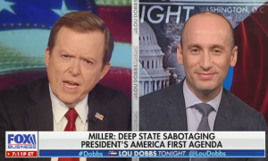 """Lou Dobbs and Stephen Miller claim the Ukraine whistleblower is a deep state operative trying to """"overthrow"""" Trump"""