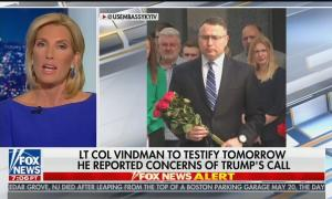 "Laura Ingraham guest suggests congressional witness Lt. Col. Vindman may be guilty of ""espionage"" and working for Ukraine"