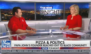 "Fox's ""straight news"" anchor Shannon Bream gets lost in the sauce during interview with Papa John's founder"