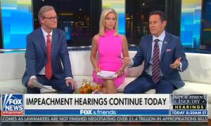 "Brian Kilmeade finds it ""hard to believe"" that someone could overhear a phone call with Trump when he was ""5,000 miles away"""