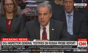 "The Federalist falsely claimed that CNN and MSNBC ""refuse to air"" Senate Judiciary hearing on IG report findings live"