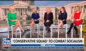 "Fox & Friends co-host Ainsley Earhardt with the ""conservative squad"""