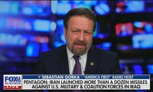 Sebastian Gorka celebrates Iranian missile strikes on American-occupied bases