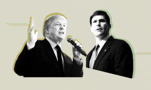 President Donald Trump and Defense Secretary Mark Esper