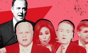 Rep. Adam Schiff and conservative media figures Rush Limbaugh, Jeanine Pirro, Mike Huckabee, and Sean Hannity