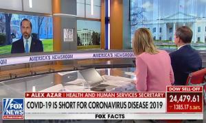 Secretary Azar on Fox News' America's Newsroom to discuss coronavirus