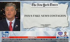 """Sean Hannity threatens to sue """"the media mob"""" for criticizing his coverage of coronavirus pandemic"""