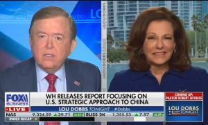 KT McFarland says China report will be removed because Trump watches Dobbs