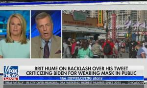 """Fox's Brit Hume defends Donald Trump's refusal to wear a mask because """"he doesn't want to look funny"""""""