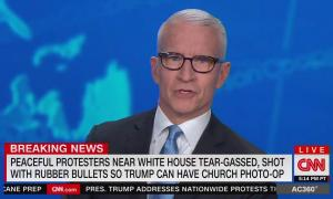 CNN reports that Trump used tear gas on peaceful protesters for a photo-op after being upset with coverage of him being rushed to a bunker