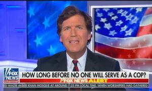 "Tucker Carlson: ""Violent young men with guns will be in charge. They will make the rules, including the rules in your neighborhood"""