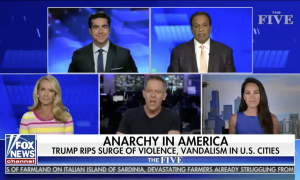 Greg Gutfeld hosts The Five on Fox News