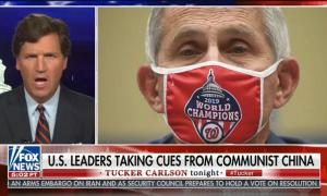 """Tucker Carlson attacks Dr. Fauci for """"authoritarian"""" pandemic response guidelines"""